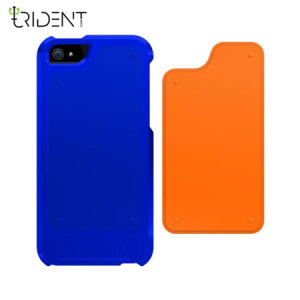 Trident Apollo 2-in-1 Snap-on Case for iPhone 5S / 5 - Navy/Orange