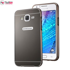 Tuff-Luv Samsung Galaxy J5 2015 Brushed Metal Bumper Case - Black