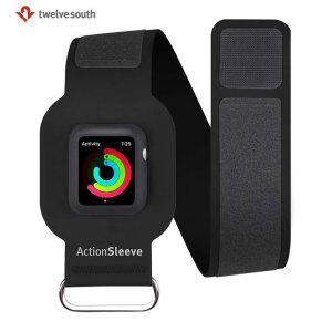 Twelve South ActionSleeve Apple Watch Armband - Black - 38mm