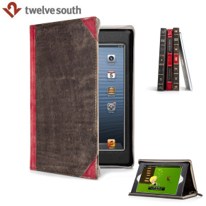 Twelve South Book Case & Stand for iPad Mini 3 / 2 / 1 - Brown/Red