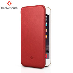 Twelve South SurfacePad iPhone 6S Plus /6 Plus Luxury Leather Case Red