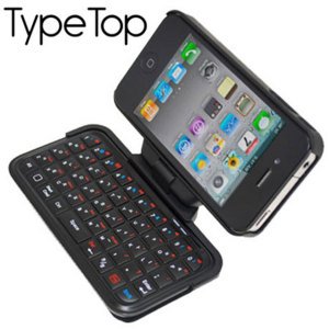 TypeTop Swivel Mini Bluetooth Keyboard for iPhone 4