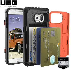 UAG Samsung Galaxy S7 Protective Card Case - Rust / Black