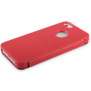 Ultra Slim Side Open Case for iPhone 5S / 5 - Red
