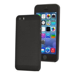 Ultra-thin Shell Case for iPhone 5S / 5 - Smoke Black