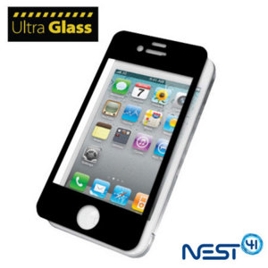 UltraGlass Protective Screen Cover for iPhone 4S / 4  - Black