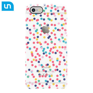 Uncommon Clear Deflector iPhone 6S / 6 Designer Case - Paper Dots
