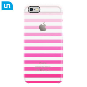 Uncommon Clear Deflector iPhone 6S / 6 Designer Case - Pink Stripe