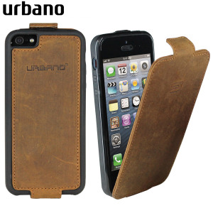 Urbano Genuine Leather Flip Case for iPhone 5S / 5 - Vintage