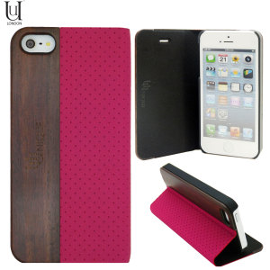Uunique Heritage Range Folio Hard Shell iPhone 5S / 5 - Pink