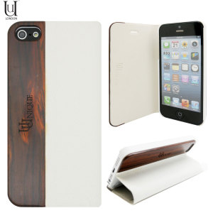 Uunique Heritage Range Folio Hard Shell iPhone 5S / 5  - White
