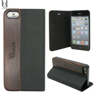 Uunique Heritage Range iPhone 5S / 5 Folio Hard Shell - Black
