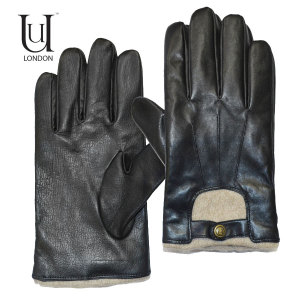 Uunique Men's Leather Touchscreen Gloves - Medium