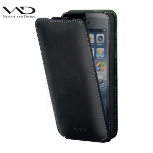 VAD Superior Leather Comfort Jacket for iPhone 5S /  5 - Black