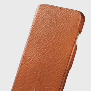 Vaja Agenda MG iPhone 7 Plus Premium Leather Case - Tan
