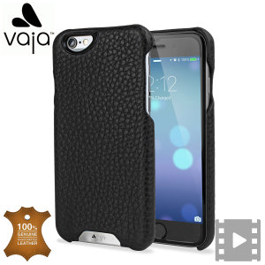 vaja grip iphone 6s 6 premium leather case black rosso 9
