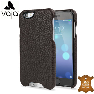 Vaja Grip iPhone 6S / 6 Premium Leather Case - Dark Brown / Birch