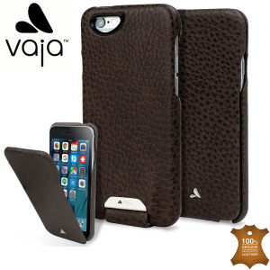 Vaja Ivo Top iPhone 6S / 6 Premium Leather Flip Case - Dark Brown