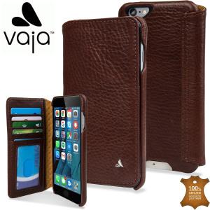 Vaja Wallet Agenda iPhone 6/6S Plus Premium Leather Case - Brown