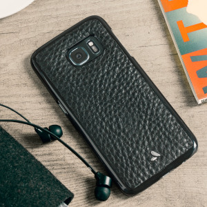 Vaja Wrap Samsung Galaxy S7 Premium Leather Case - Black
