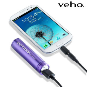 Veho Pebble Smartstick Portable Charger 2000mAh - Purple