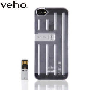 Veho SAEM™ S7 iPhone 5S/5 Case with 8GB USB Memory Drive – Clear