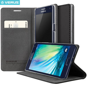 Verus Crayon Diary Samsung Galaxy A5 Leather-Style Case - Black