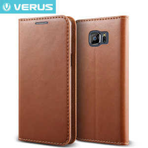 Verus Crayon Diary Samsung Galaxy S6 Leather-Style Case - Brown