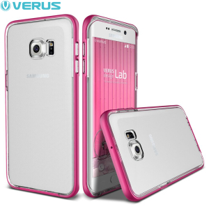 Verus Crystal Bumper Samsung Galaxy S6 Edge Plus Case - Hot Pink