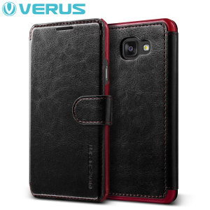 Verus Dandy Leather-Style Samsung Galaxy A5 2016 Wallet Case - Black