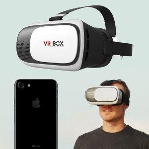 VR BOX Virtual Reality iPhone 7 Headset - White / Black