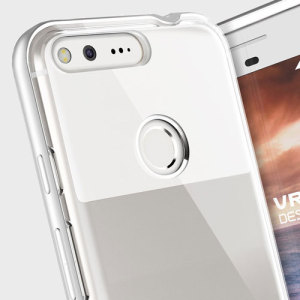 hard strong vrs design crystal bumper google pixel case light silver big