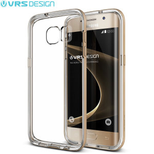 VRS Design Crystal Bumper Samsung Galaxy S7 Edge Case - Shine Gold