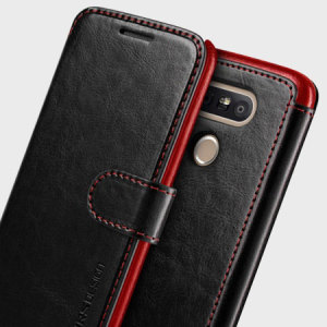 VRS Design Dandy Leather-Style LG G5 Wallet Case - Black