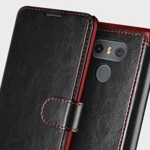 VRS Design Dandy Leather-Style LG G6 Wallet Case - Black