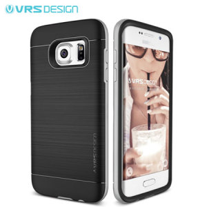 VRS Design High Pro Shield Samsung Galaxy S7 Edge Case - Silver