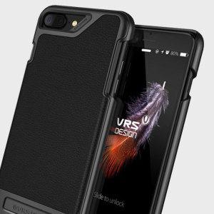 VRS Design Simpli Mod Leather-Style iPhone 7 Plus Case - Black