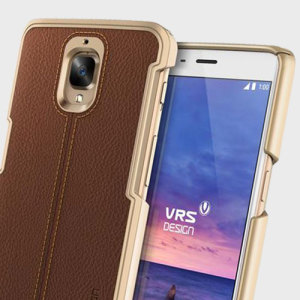 VRS Design Simpli Mod Leather-Style OnePlus 3T / 3 Case - Brown