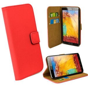 Wallet Case for Samsung Galaxy Note 3 -  Red