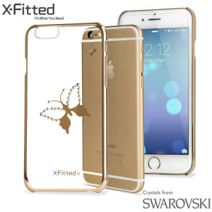 X-Fitted Butterfly iPhone 6S / 6 Case w/ Swarovski Elements - Gold