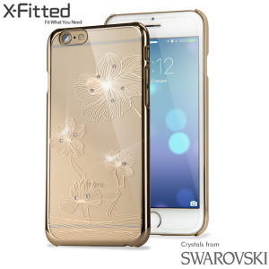 X-Fitted Lotus iPhone 6S / 6 Case w/ Swarovski Elements - Gold
