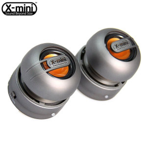 XMI X-Mini Max Duo Rechargeable Speaker - Gunmetal Silver