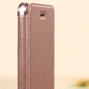 Xundd iPhone SE Leather-Style Book Flip Case - Rose Gold