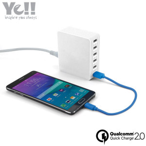 Ye!! 6-Port USB Qualcomm Quick Charge 2.0 Power Adapter - White