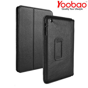 YooBao Leather Case/Stand for iPad Mini 2 / iPad Mini - Black