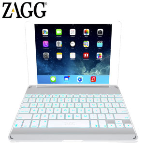 ZAGGkeys Bluetooth Keyboard Cover for iPad Air - Silver