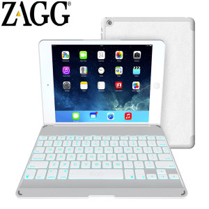 ZAGGkeys Bluetooth Keyboard Folio Case for iPad Air - White