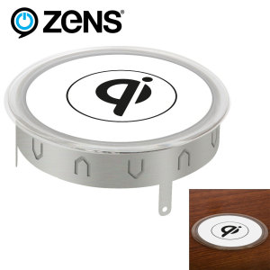 ZENS Qi Wireless Charging Pad for Furniture - EU Mains Plug