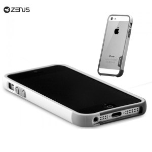 Zenus Bumper Trio Series Case for iPhone 5S / 5 - Grey