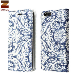 Zenus Denim Paisley Diary iPhone 6 Case - Blue